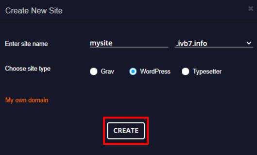 create multiple websites