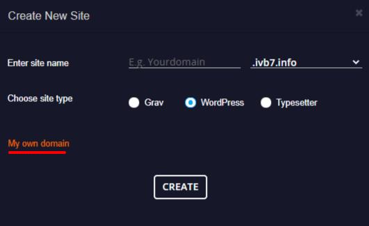 hosting own domain